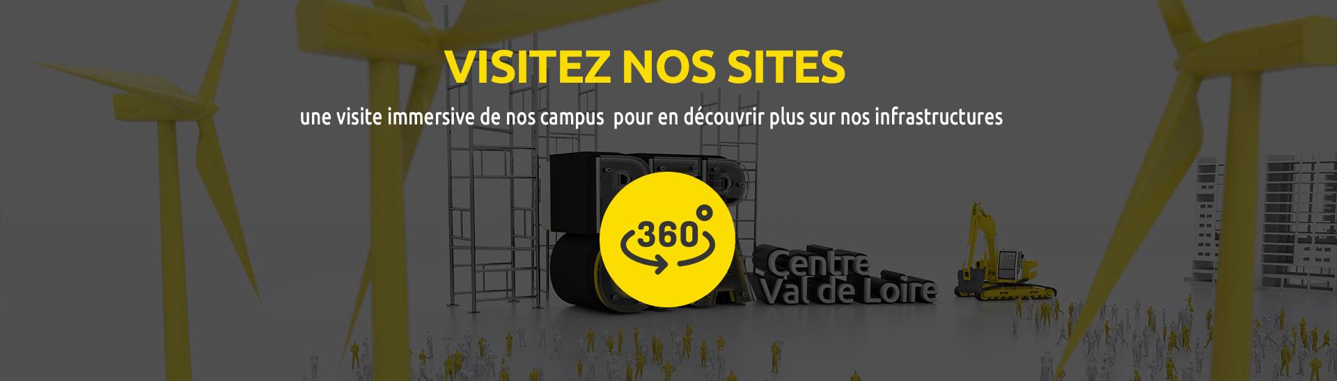 Visitez nos sites en 360 !