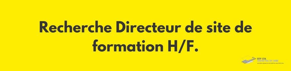 Offre d'emploi : nous recherchons un Directeur de campus de formation F/H à Orléans.